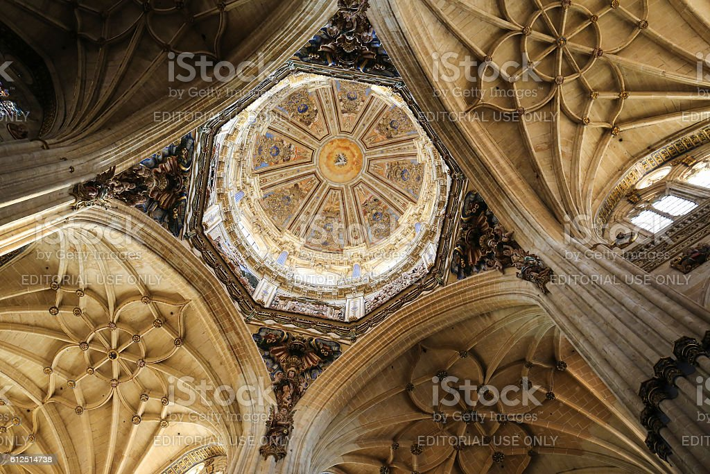 New Cathedral of Salamanca stock photo