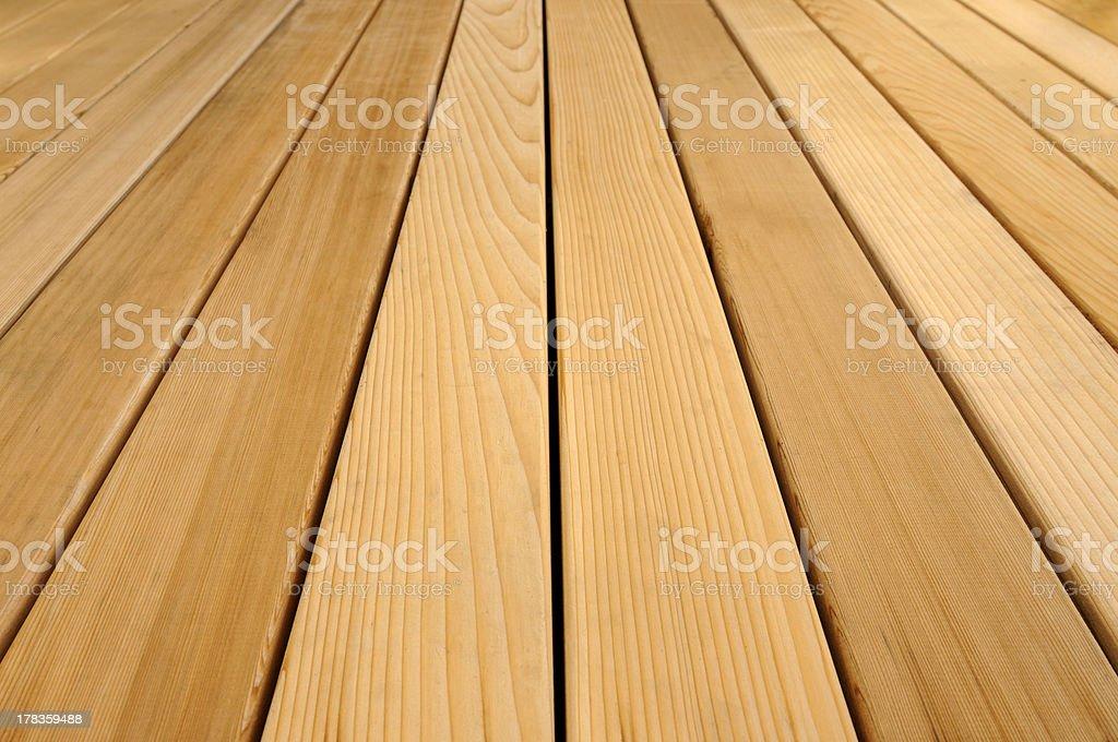 New Cedar Deck stock photo