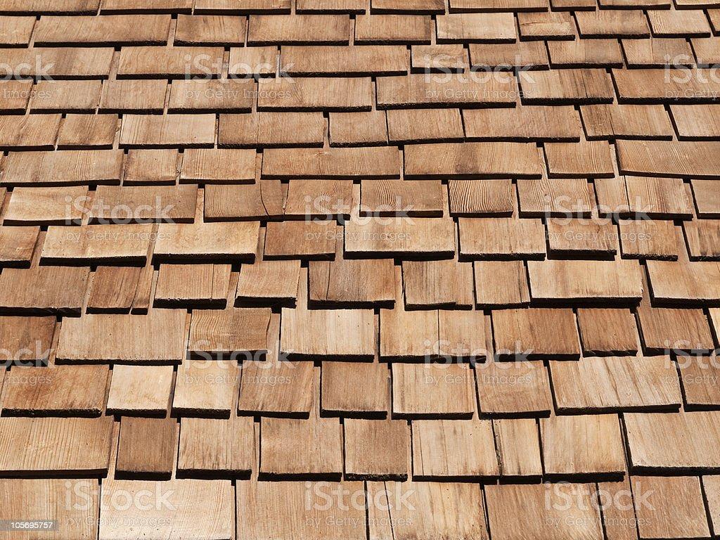 New Cedar Shakes royalty-free stock photo