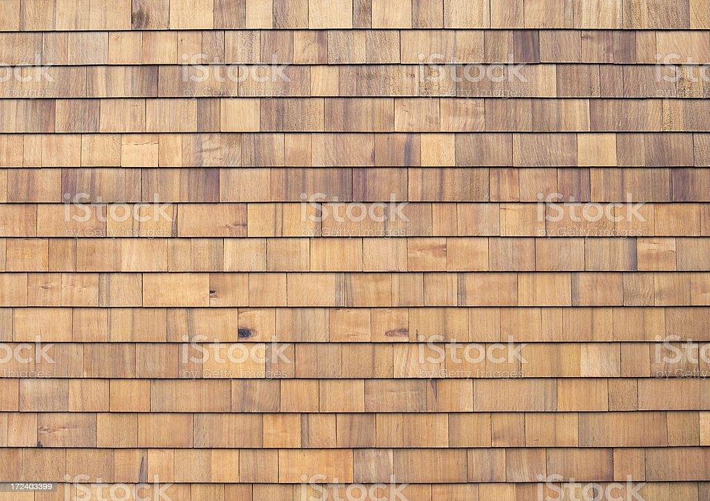 New Cedar Siding royalty-free stock photo