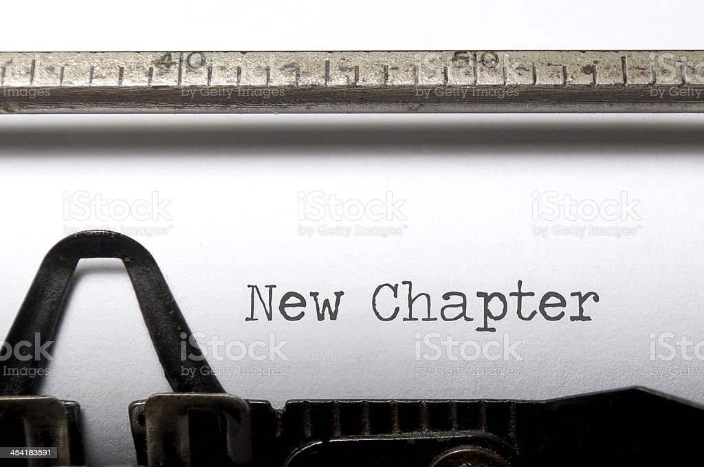 New chapter royalty-free stock photo