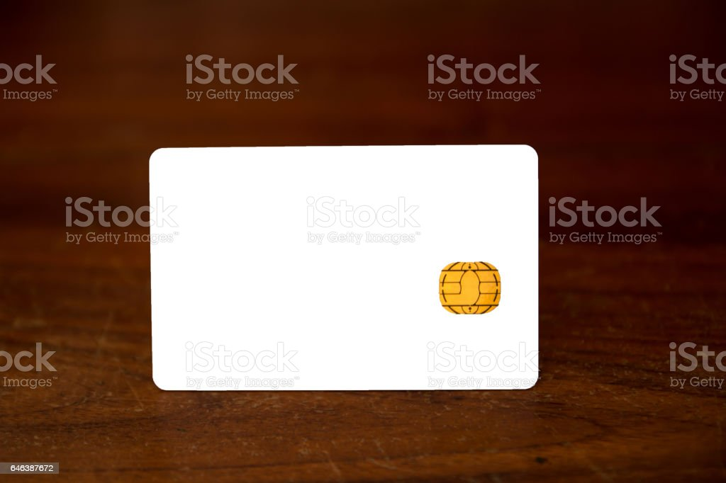 New chip cards stock photo