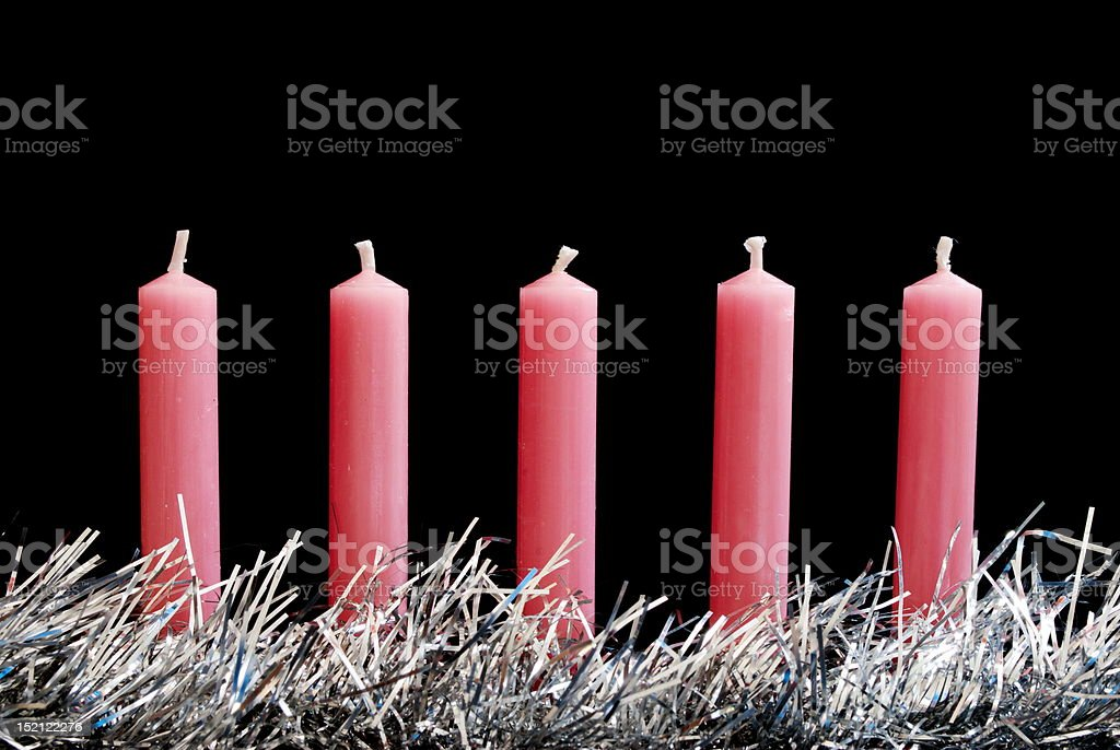 New Christmas candles royalty-free stock photo