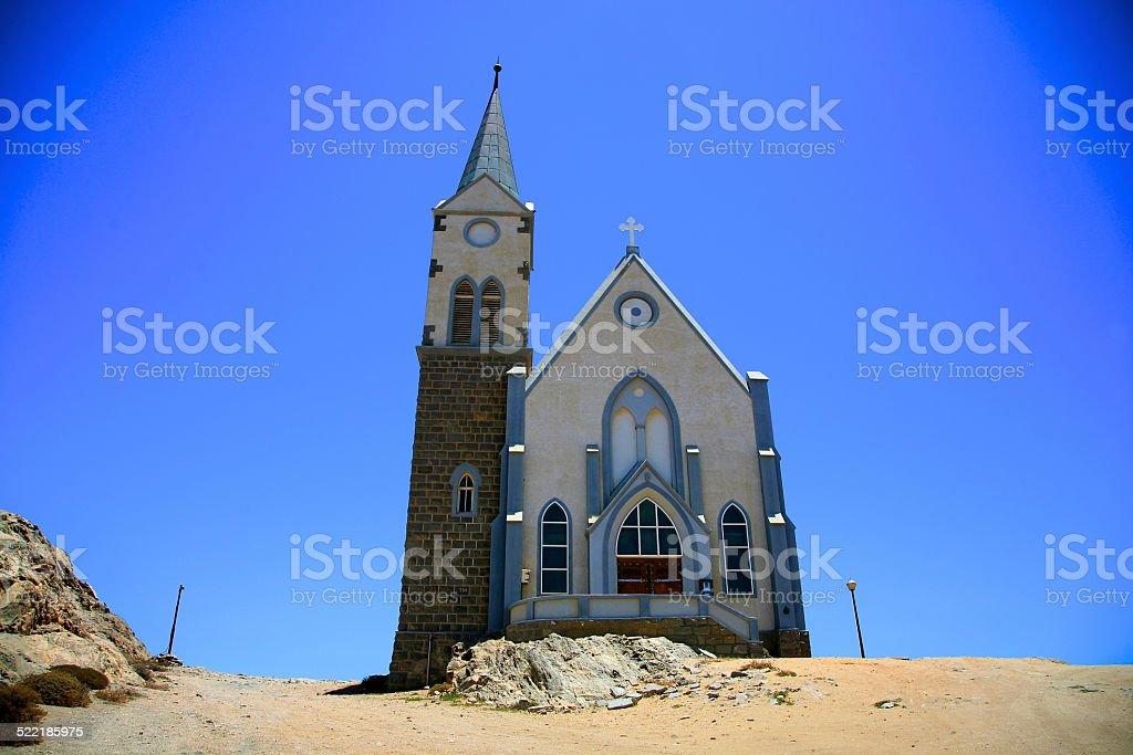 New church in Nambia stock photo