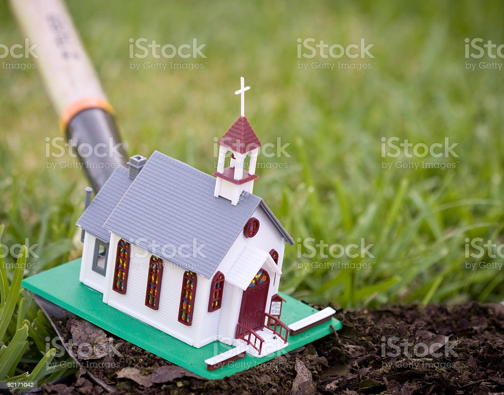 New church planting stock photo