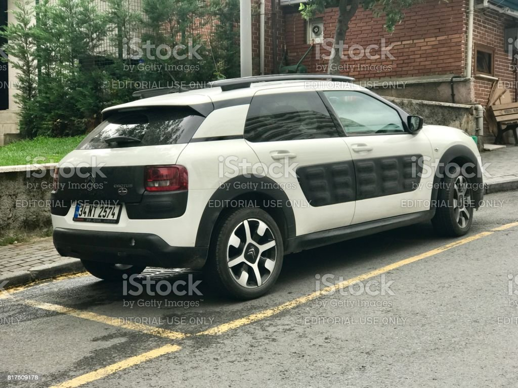 New Citroën C4 Cactus parking in the street stock photo
