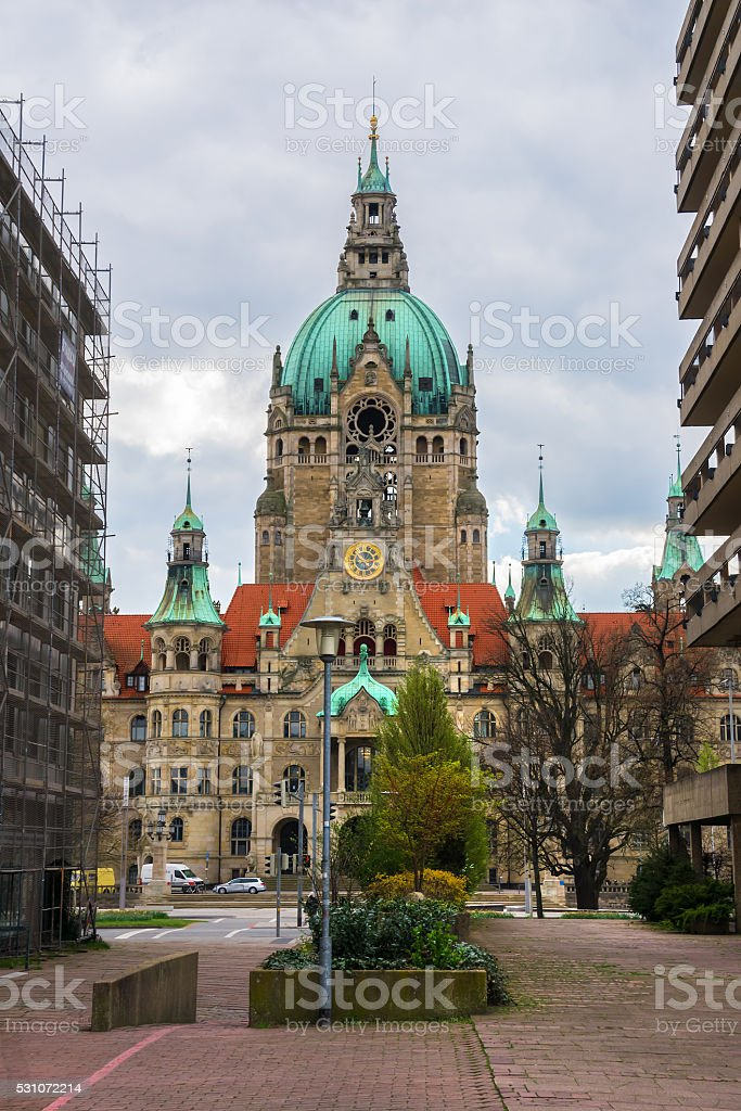 New City Hall in Hannover, Germany. stock photo