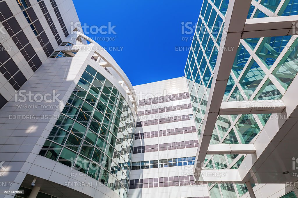 New City Hall of The Hague, Netherlands stock photo