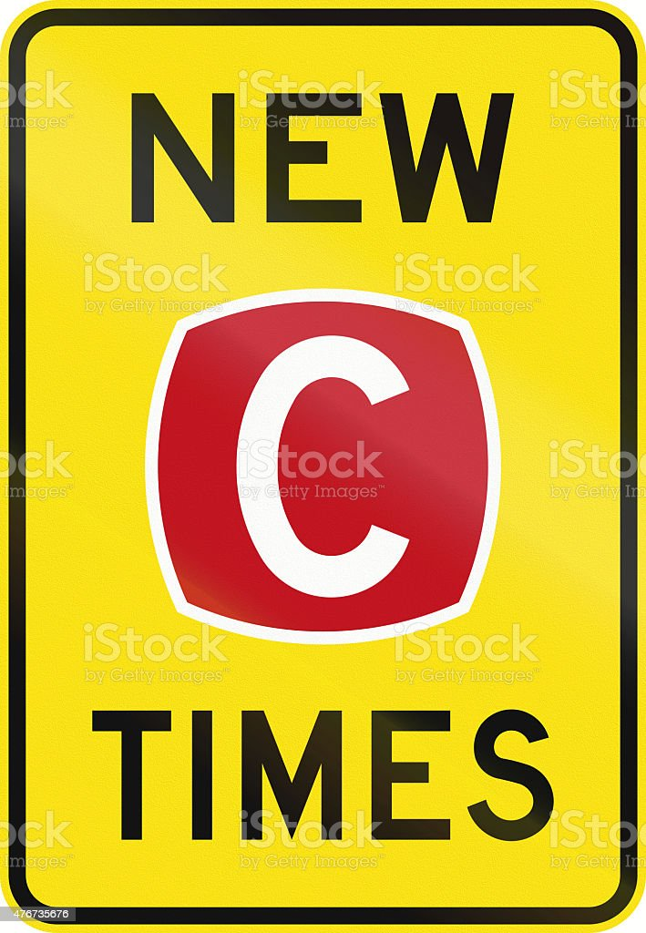 New Clearway Times in Australia stock photo