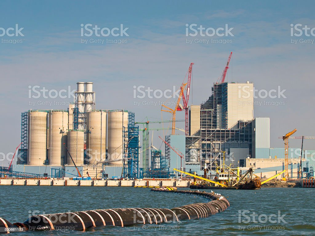 New Coal Power Plant Being Built stock photo