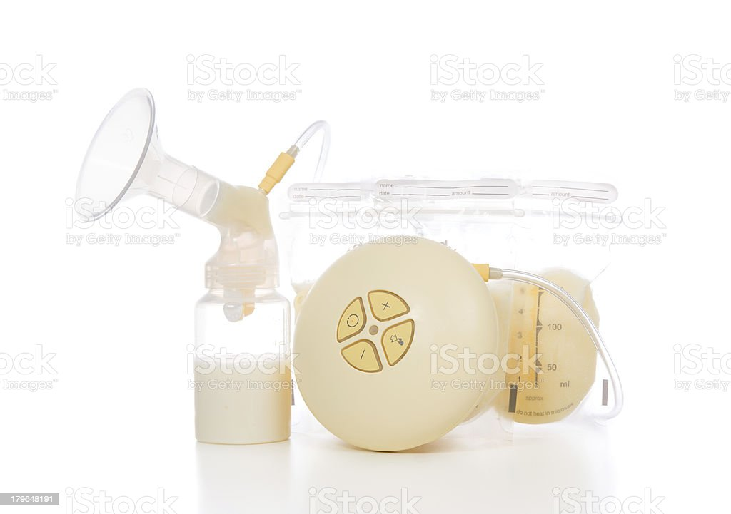 New compact electric breast pump to increase milk royalty-free stock photo