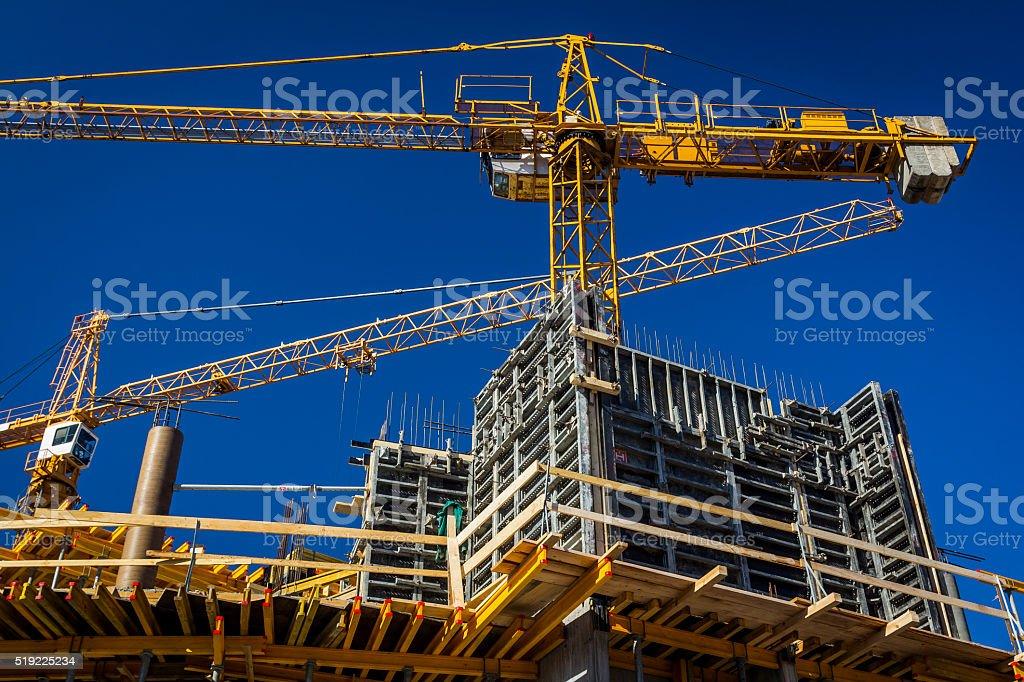 New concrete building under construction stock photo