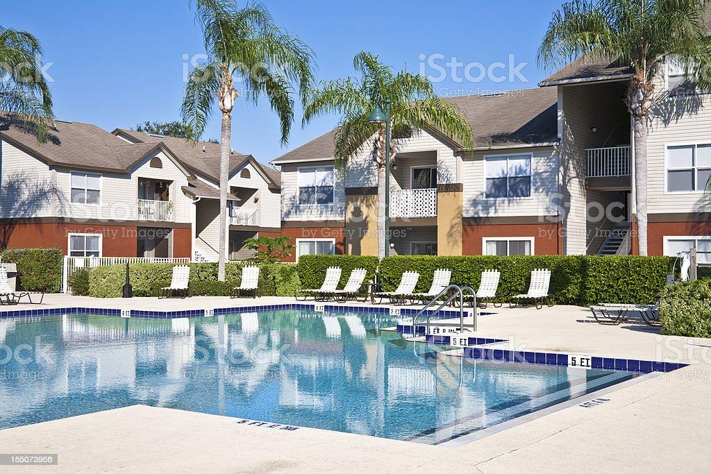 New Condominiums - Swimming Pool royalty-free stock photo