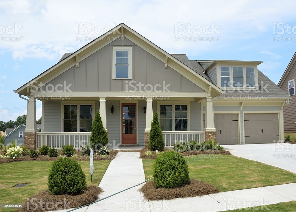New Constructed home for sale stock photo