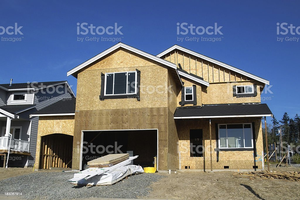 New Construction Craftsman royalty-free stock photo