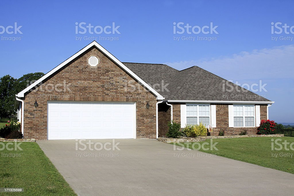 New Construction Generic Brick House stock photo