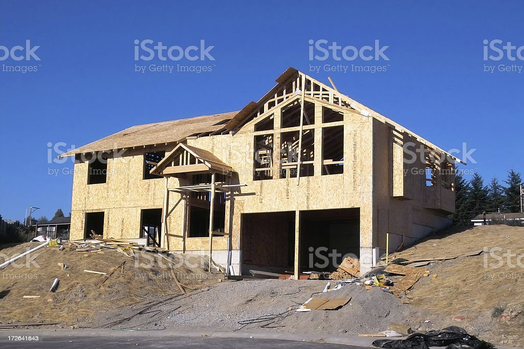 New Construction Home in Progress stock photo