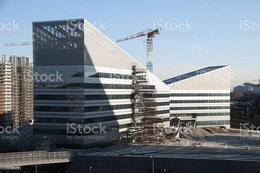 New Construction in Milan royalty-free stock photo