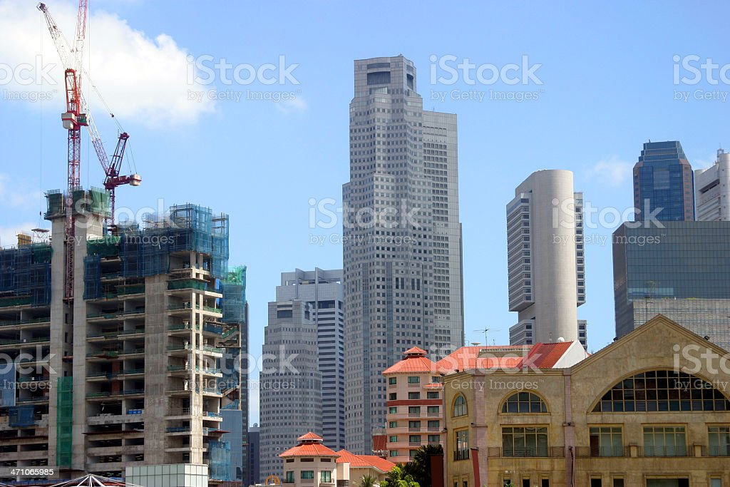 New construction in Singapore royalty-free stock photo