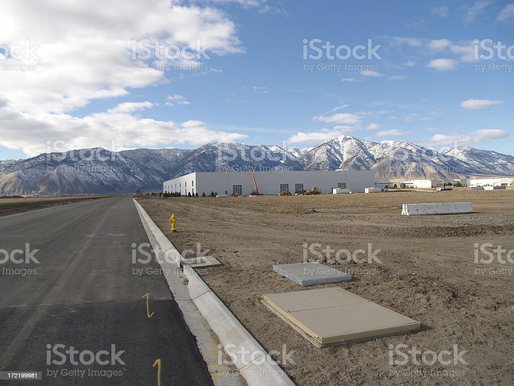 New Construction Landscape stock photo