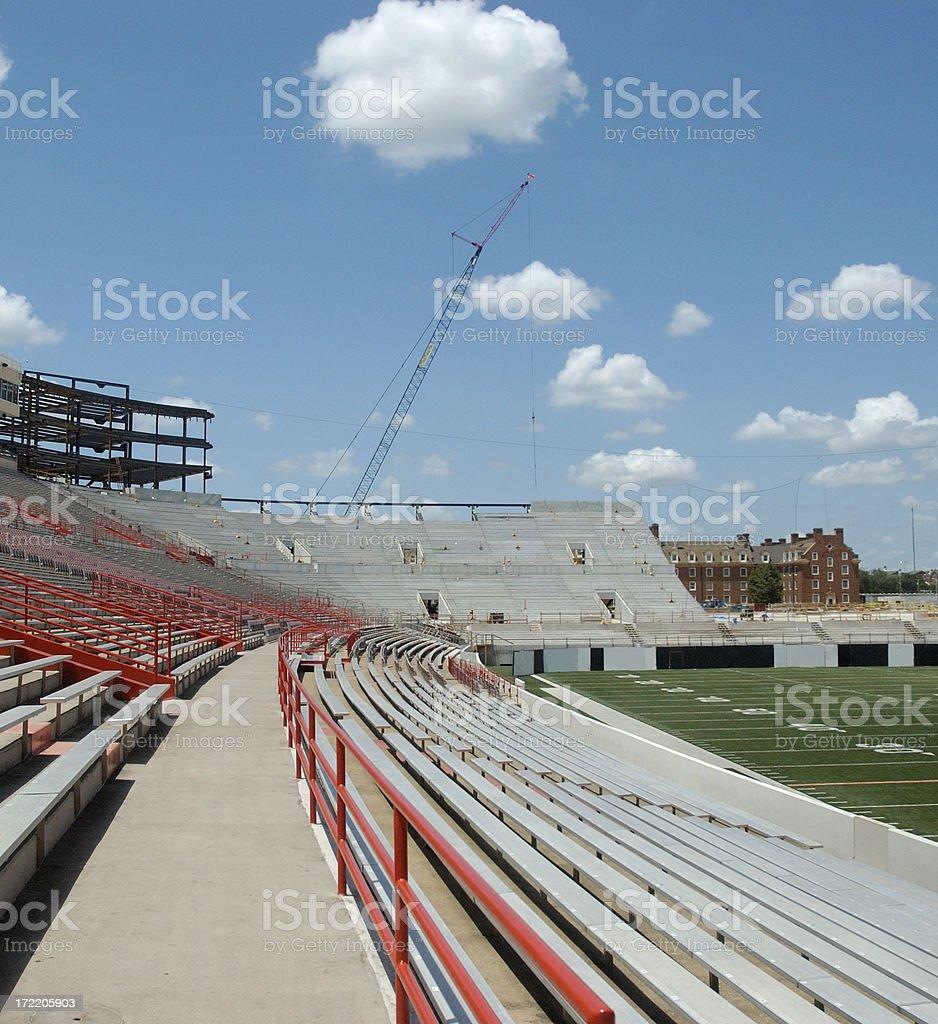 New Construction on Football Stadium royalty-free stock photo