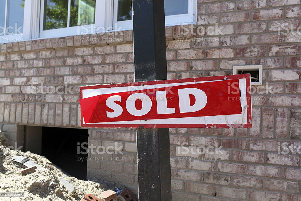 New Construction Sale royalty-free stock photo
