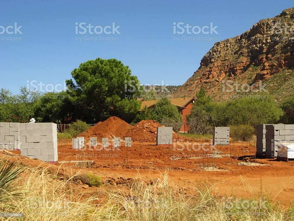 New Construction Site House royalty-free stock photo