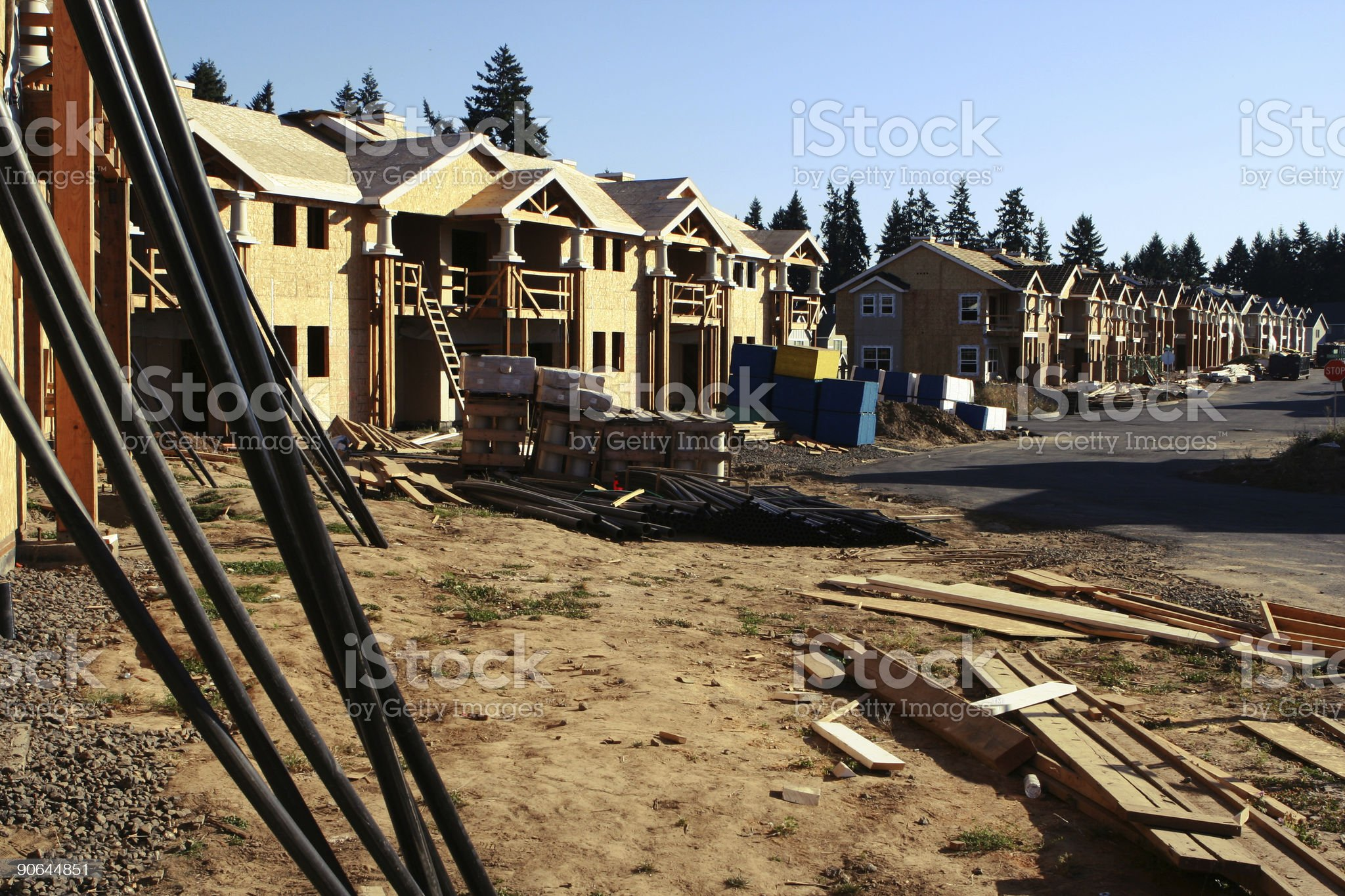New Construction Site royalty-free stock photo