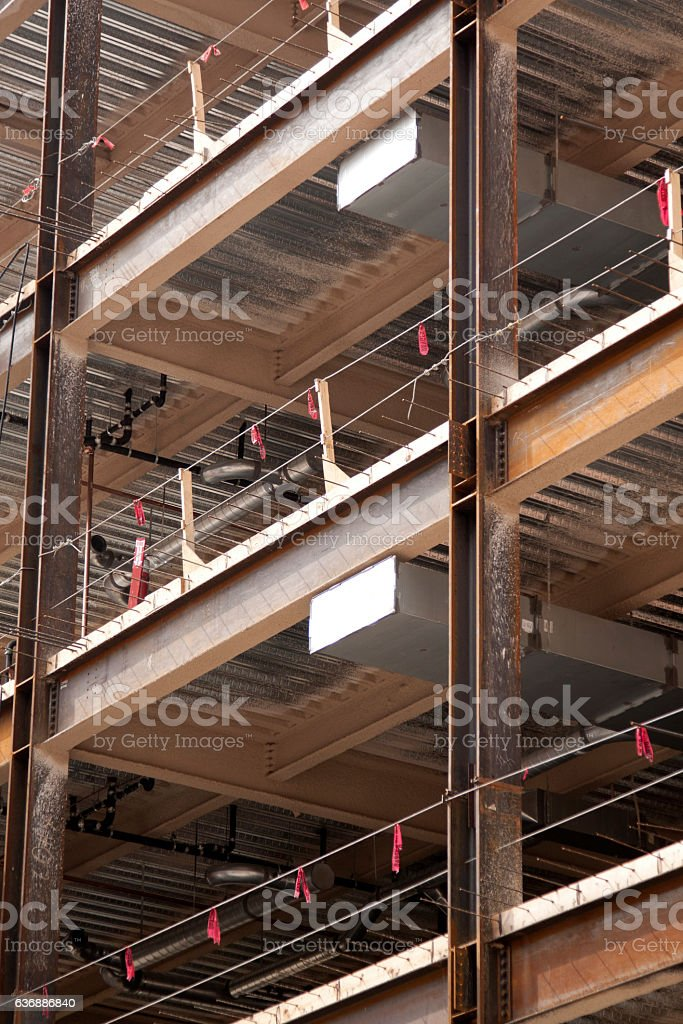 New Construction Steel Beams stock photo