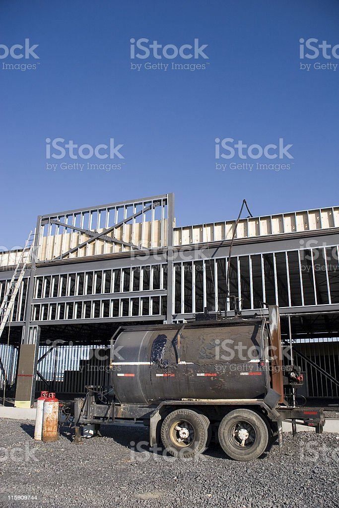New construction tar roof royalty-free stock photo