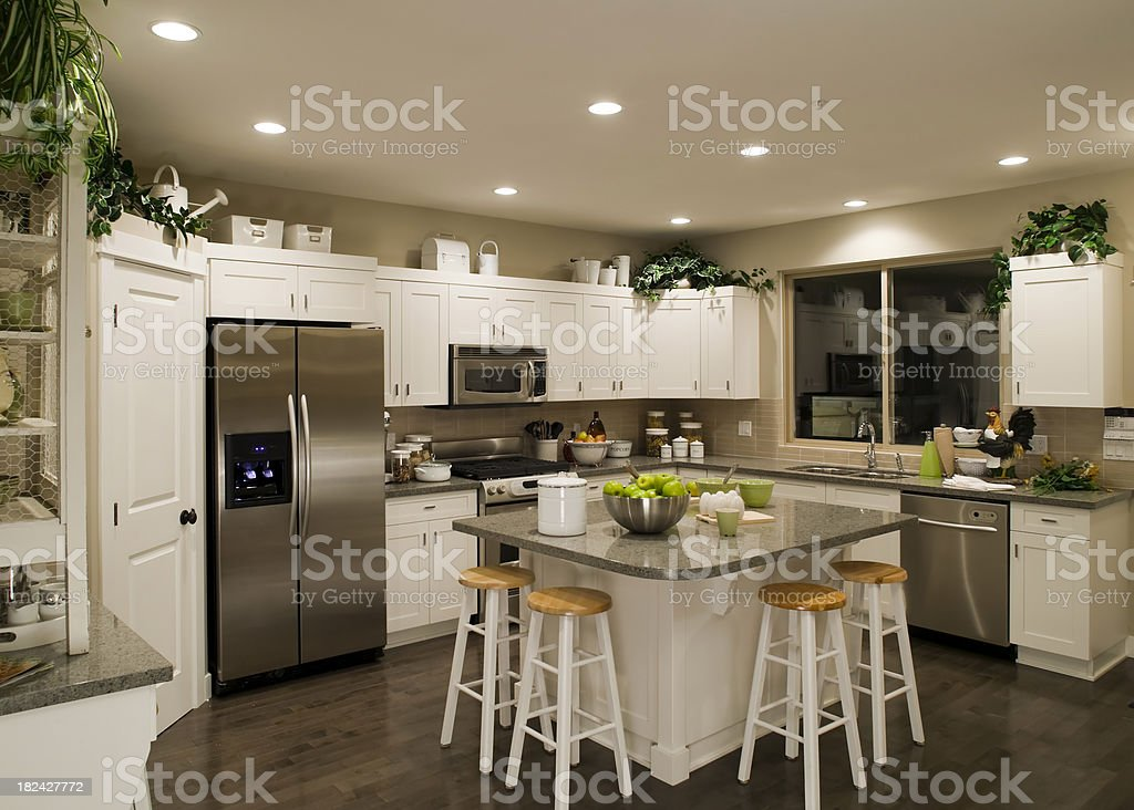 new contemporary kitchen home interior royalty-free stock photo