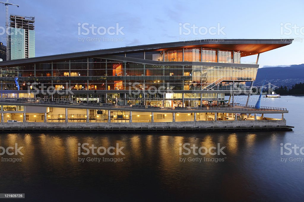 New Convention Center, Vancouver stock photo
