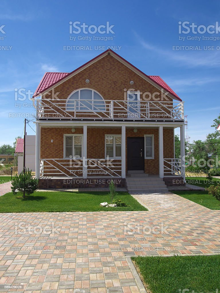 New cottage Russian resort 'Elton' Volgograd region stock photo