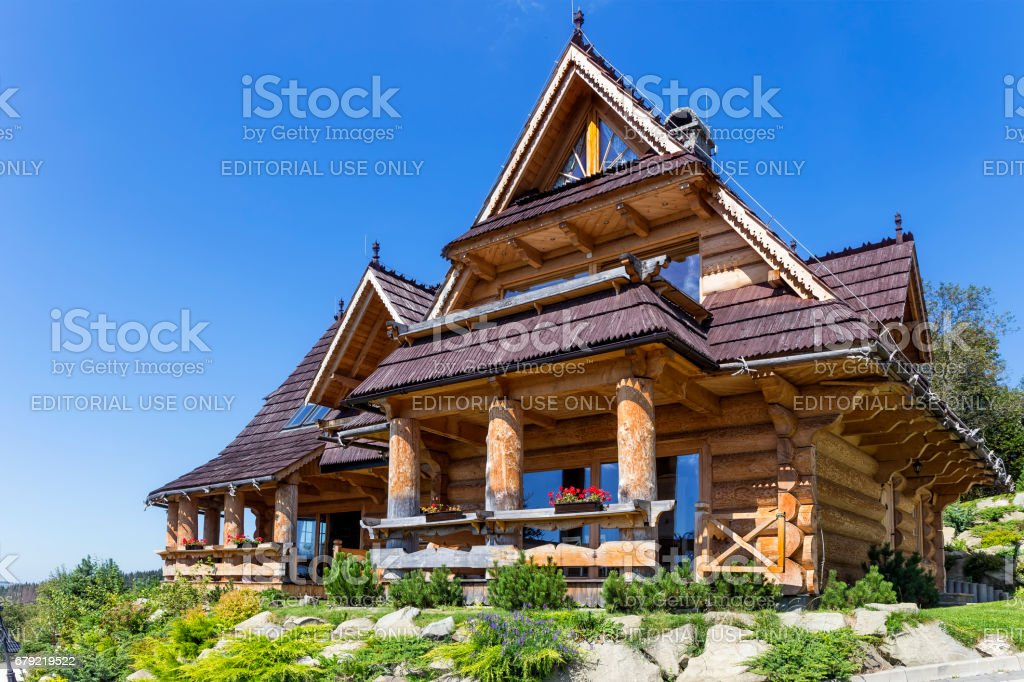 New country style holiday villa in the countryside stock photo