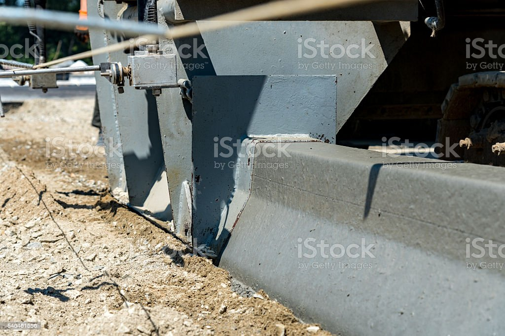 New curb construction stock photo