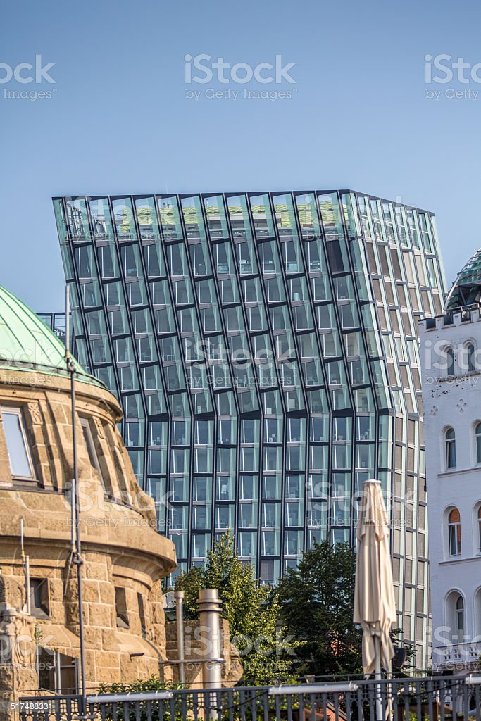 New Curved Tower in Hamburg stock photo