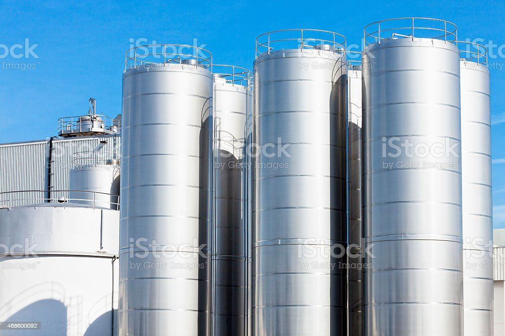 New Dairy Factory stock photo