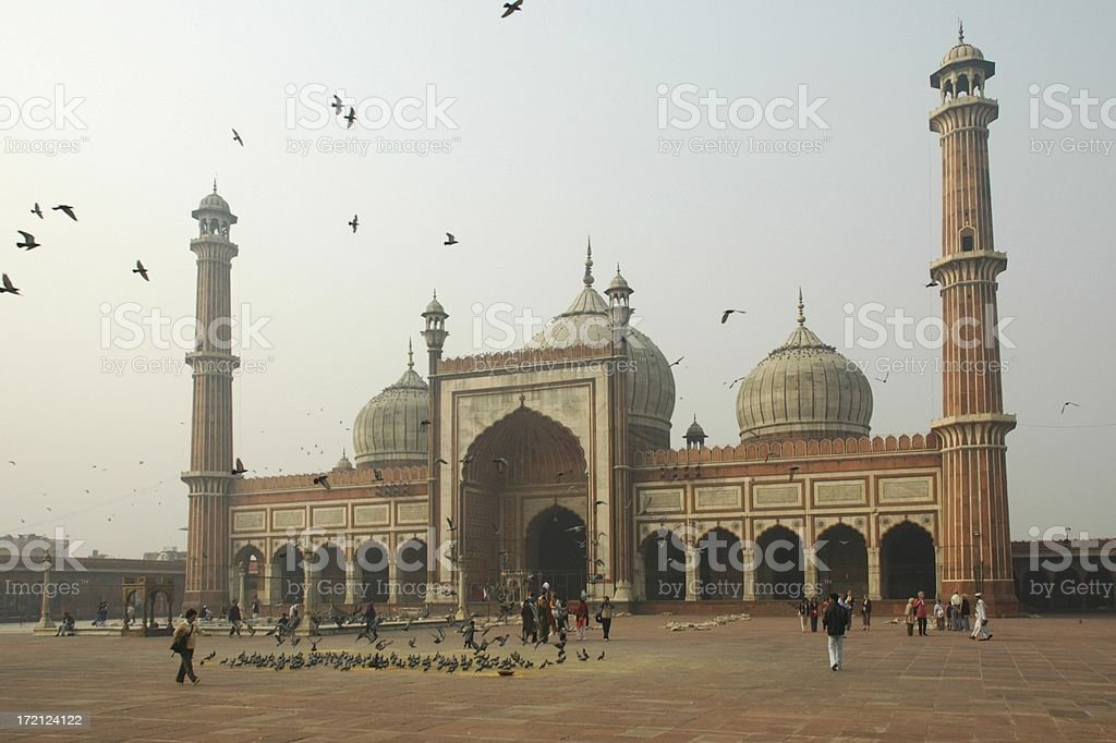 New Dehli mosque stock photo