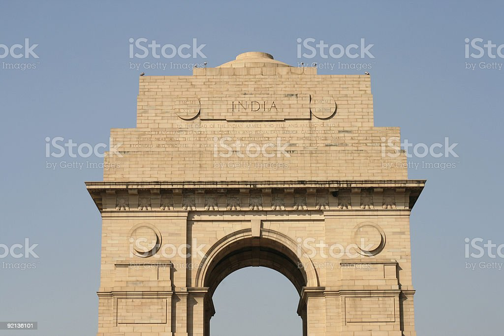 New Delhi Gate royalty-free stock photo