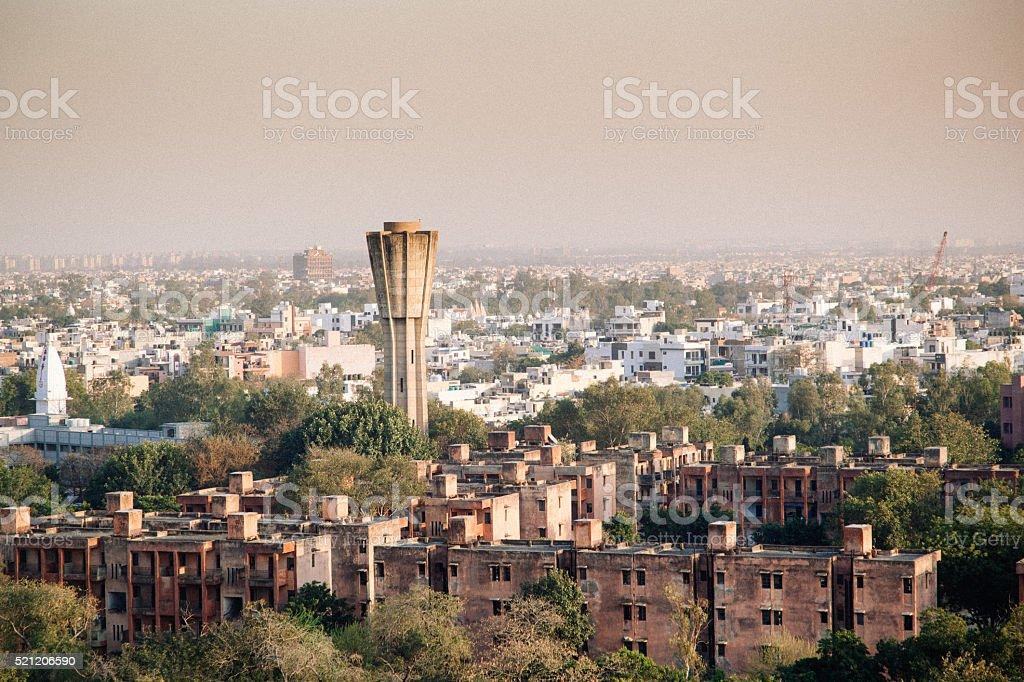 New Delhi neighborhood stock photo