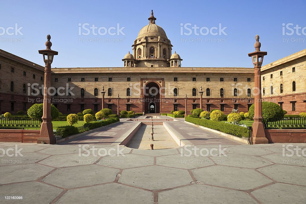 New Delhi President House stock photo