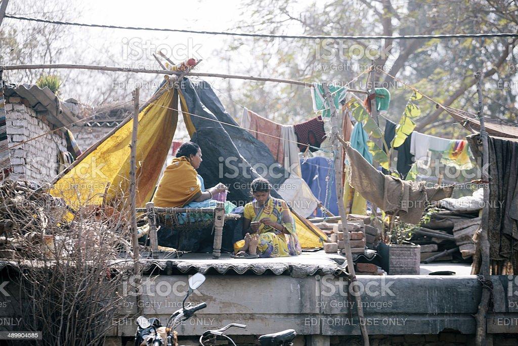 New Delhi slum royalty-free stock photo