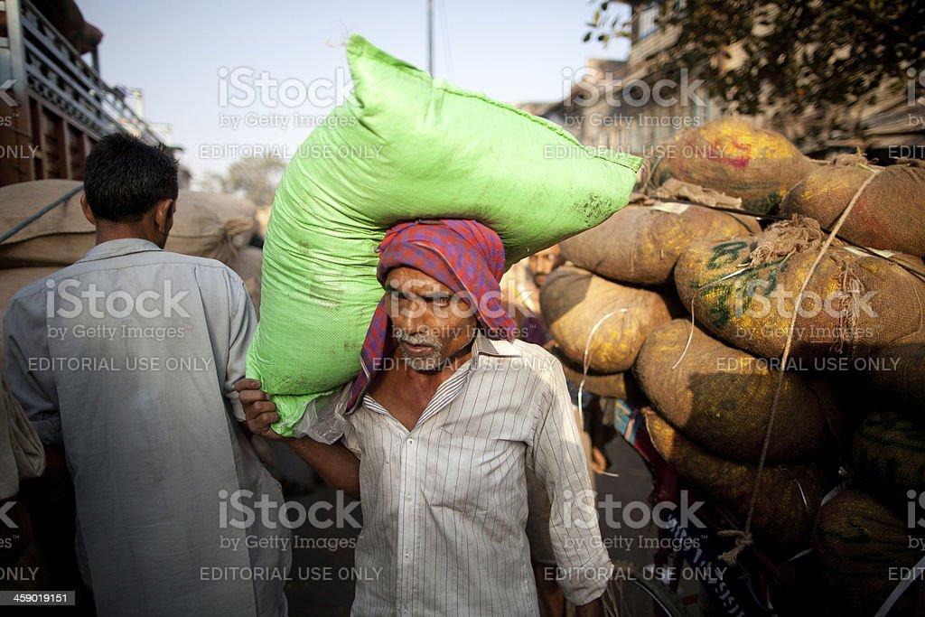 New Delhi street life royalty-free stock photo