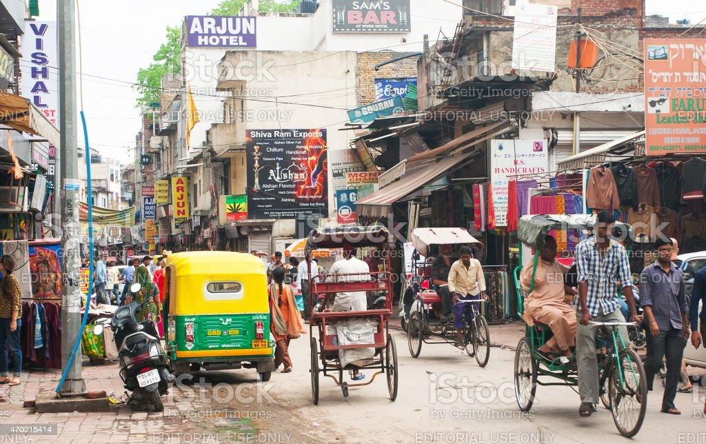 New Delhi street stock photo