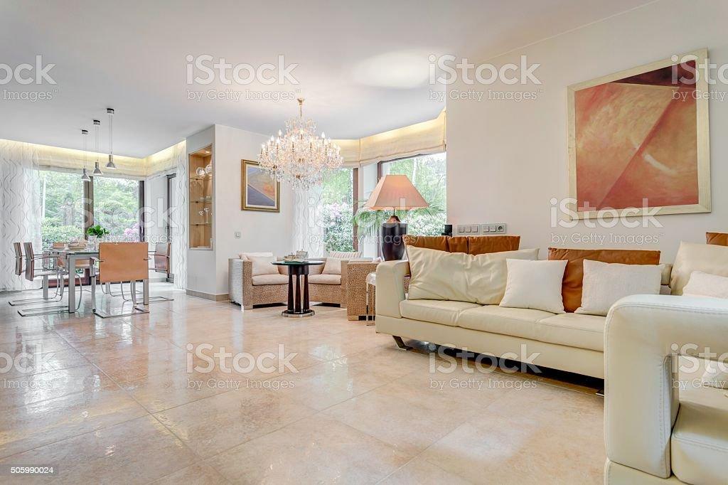 New design living room stock photo