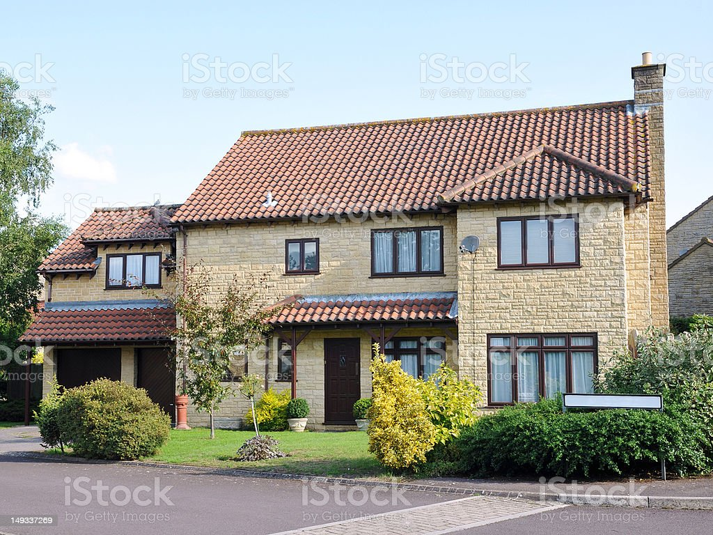 New Detached House stock photo