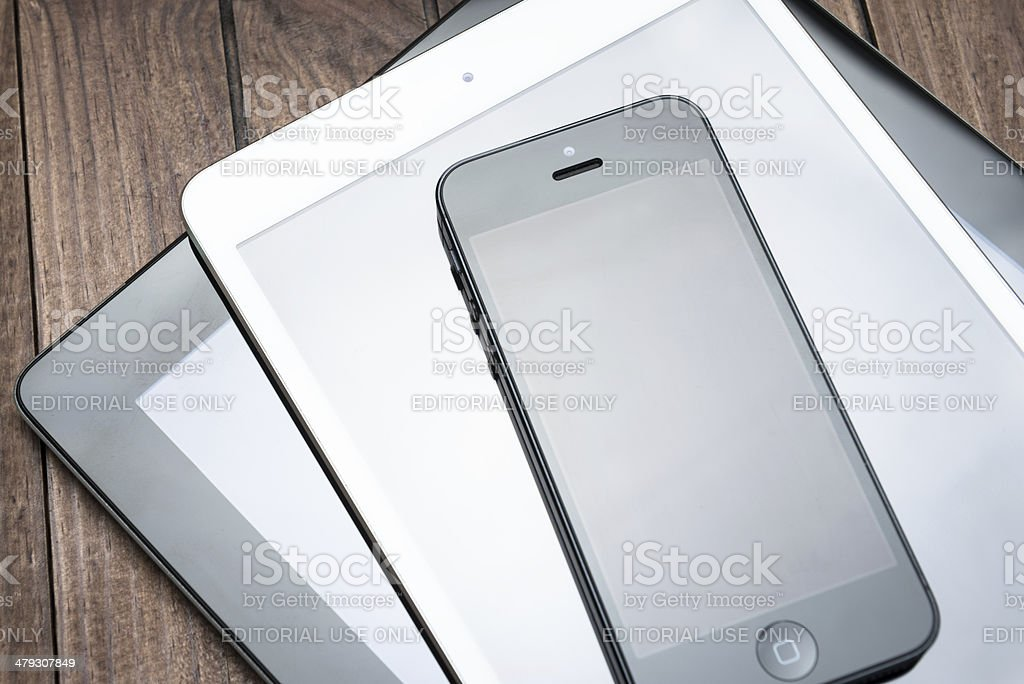 New devices on the table royalty-free stock photo