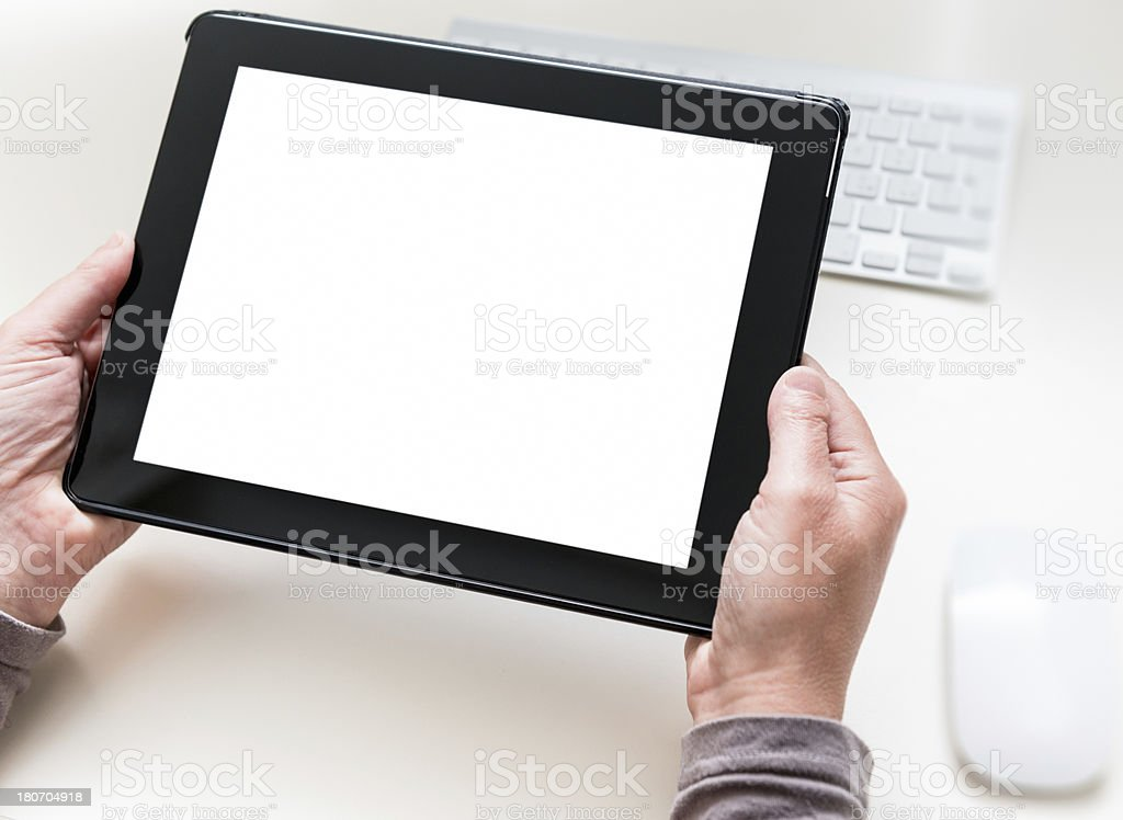 new digital tablet on the desk royalty-free stock photo