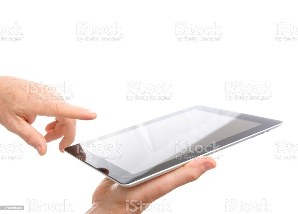 New digital tablet on white background royalty-free stock photo