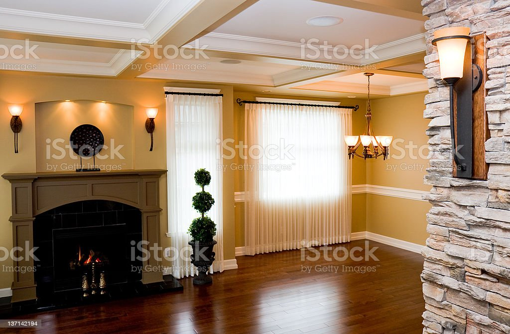 New Dining and Living Room Combination royalty-free stock photo